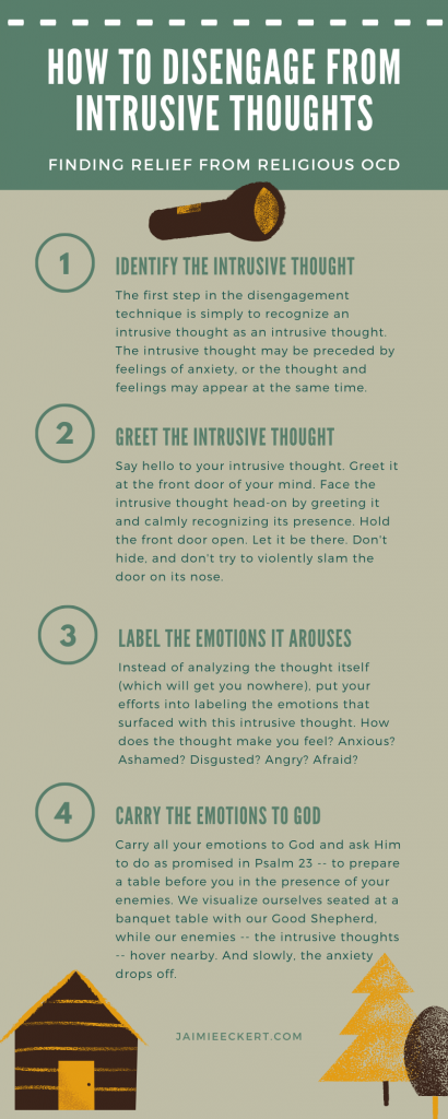 Infographic - Disengaging from Intrusive Thoughts