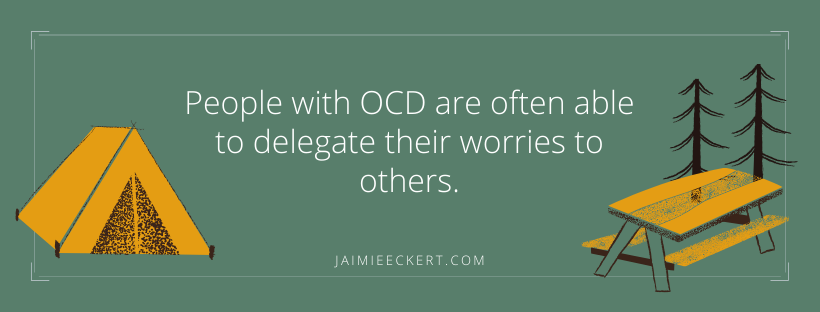 people with OCD can delegate their worries