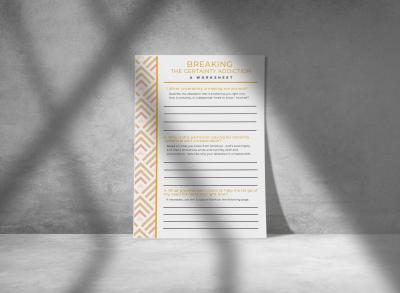 help for scrupulosity - free downloadable printable worksheet