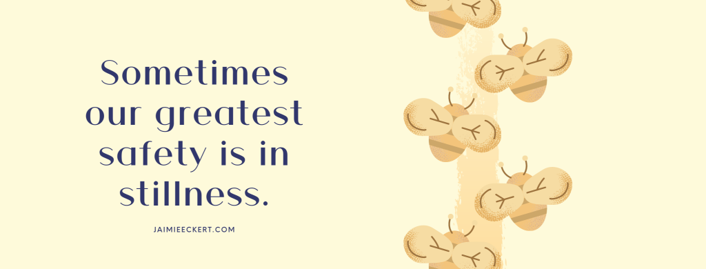 Sometimes our greatest safety is in stillness